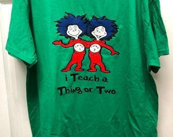 Thing One and Thing Two Shirt, Dr. Seuss Shirt, Dr. Seuss Day Shirt, Shirt For Teachers, Teacher Gift, Things Shirt, Cat in The Hat