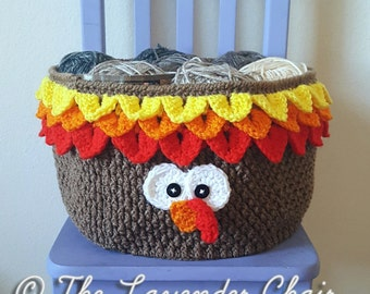 Turkey Yarn Basket Crochet Pattern *PDF FILE DOWNLOAD* Instant Download