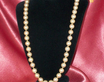 Vintage Champagne Glass Pearl Necklace