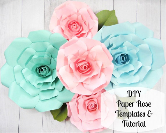 Giant paper roses large paper flower roses rose templates giant paper roses large paper flower roses rose templates tutorials flower templates from catchingcolorflies on etsy studio mightylinksfo