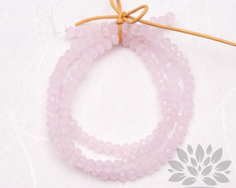 CB100-IP// 4mm Faceted Crystal Rondelle Bead, 1 strand