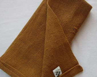Brown Cotton Handwoven Napkins
