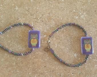 Hootie Hoo purple bracelet