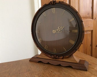 Vintage 1950's 'Smiths' 8 Day mechanical mantle clock, British Made