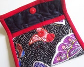 Red And Black Butterfly Snap Pouch