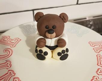 Luke Skywalker Star Wars Bear Fondant Cake Topper