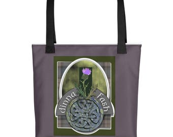 Dinna Fash Tote Bag- For the Love of all Scott & Outlander Inspired as well