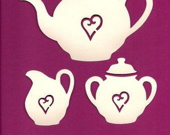 Tea Service - Tea Set - WPC digital cutting file for Pazzles Inspiration