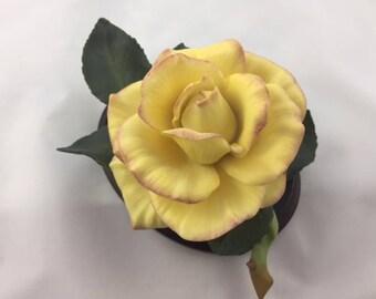Porceline Peace Rose - Franklin Mint Collectable