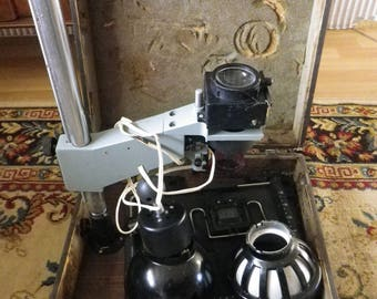 vintage / 1950s / soviet / ussr / dark room UPA-510   portable Enlarger lab / scarce this time to find / very heavy lab /