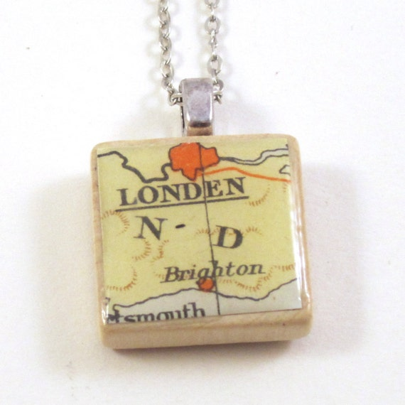 Scrabble tile necklace - Europe variations