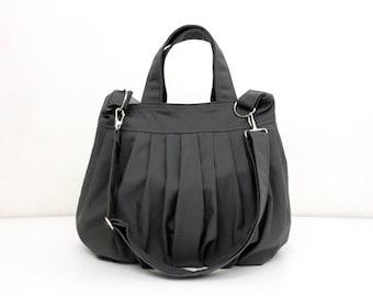 Handbags Canvas Bag Diaper bag Shoulder bag Hobo bag Tote bag Messenger Purse Handbag Everyday bag  Dark Gray  Catie