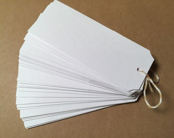 Die Cut, Hang Tags, White Blank Tags, Price Tag, Gift Tag, Retail Tag, 110 lb Card Stock CP-1002