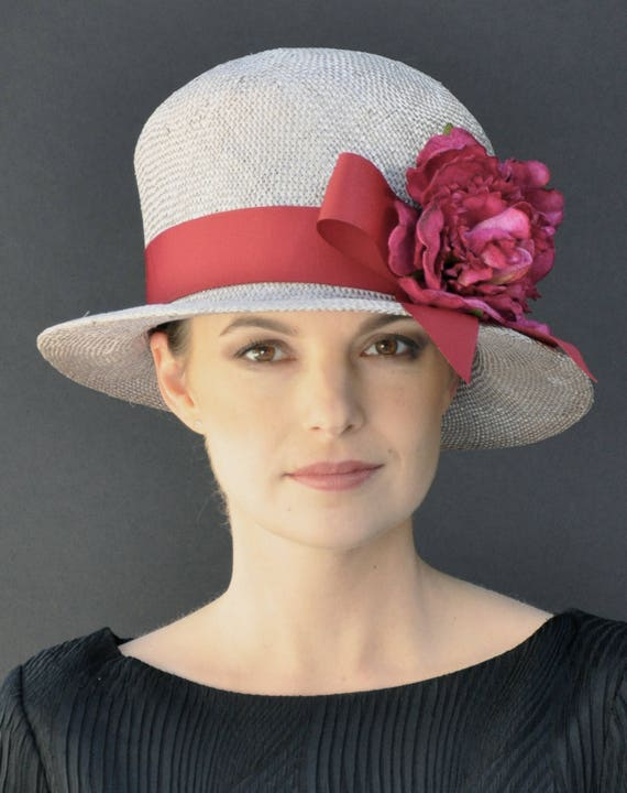 Derby Hat, Wedding Hat, Summer Straw Hat, Cloche, Garden Party Hat, Tea Party Hat, Formal hat, Dressy Hat, Ladies hats