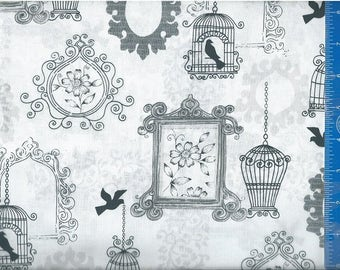 Birdcage Ornaments, Fabric Quilting Crafting Home Decor