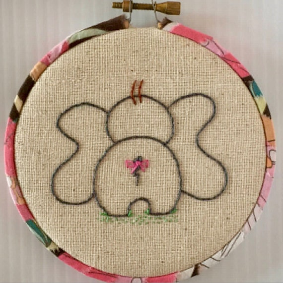 Little Elephants Hand Embroidered Hoop Set, Whimsical, Hand Embroidered