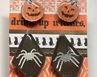 Halloween themed stud earrings