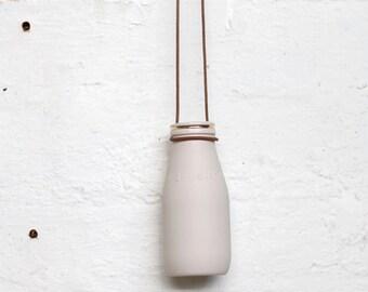 hanging mini bud vase gold rim - porcelain