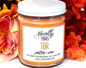 TBR   9oz jar   Reading, bookworm inspired soy candle   Book Candle   Bookish Gift