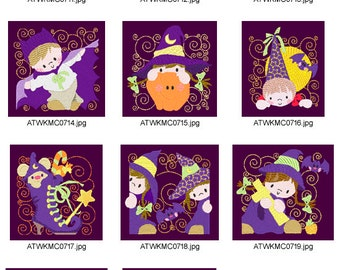 Halloween-Blocks ( 10 Machine Embroidery Designs from ATW ) XYZ17B