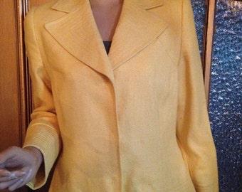 Silk Yellow Blazer
