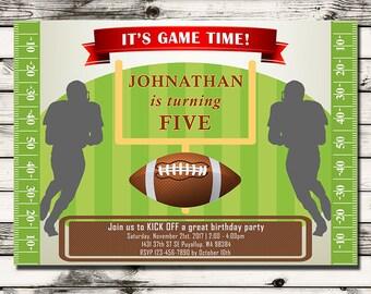 Football Party Invitation - Tailgate Invitation - Tailgate Party Invitation - Tailgate Birthday Invitation - Printable Digital File