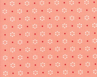 The Good Life Coral Dot, 55152 23 by Bonnie & Camille of Moda Fabric, Sold by the Half Yard
