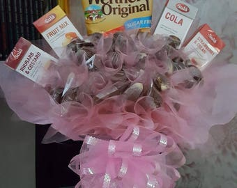 Sugar free chocolate and sweet bouquet