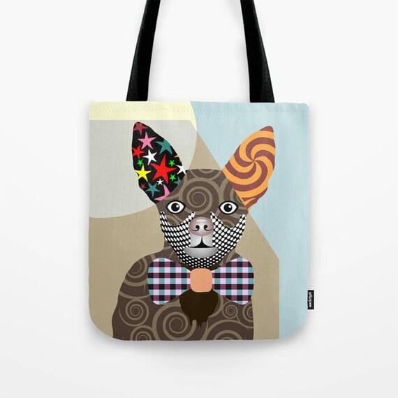 Chihuahua Bag, Chihuahua Gifts,   Chihuahua Art Print,  Dog Tote Bag, Dog Lover's Gift, Animal Lover Gift, Pet Tote Bag