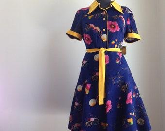 1960s dress - Vintage summer dress - Vintage floral print dress - 1960s floral dress - Vintage dress - Dead stock 1960s -