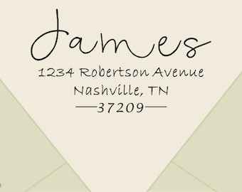 custom family Return Address Stamp -address rubber stamp - CUSTOM Self-Inking Personalized Return Address Stamp