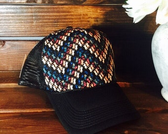 Verify size before ordering!New multicolored chevron design trucker hat. Great for teens and adults!