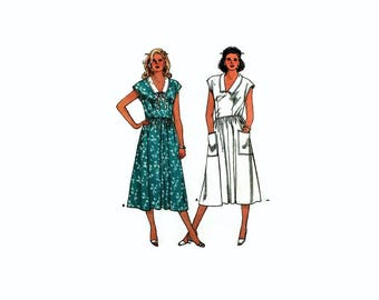 1980s Vintage Sewing Pattern - Butterick 3815 - Collared Dress UNCUT