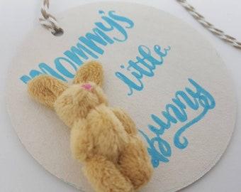 baby boy bunny gift tag