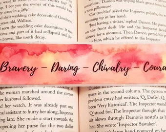 Gryffindor Inspired,hand painted Bookmark