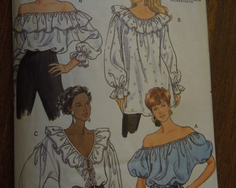 Butterick 5463, sizes 6-10, pullover top, misses, womens, UNCUT sewing pattern