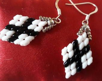 Another version: white and black diamond earrings