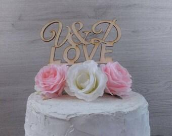 Cake topper LOVE Initials - cake figure, wedding cake, wedding, cake topper, wedding decoration