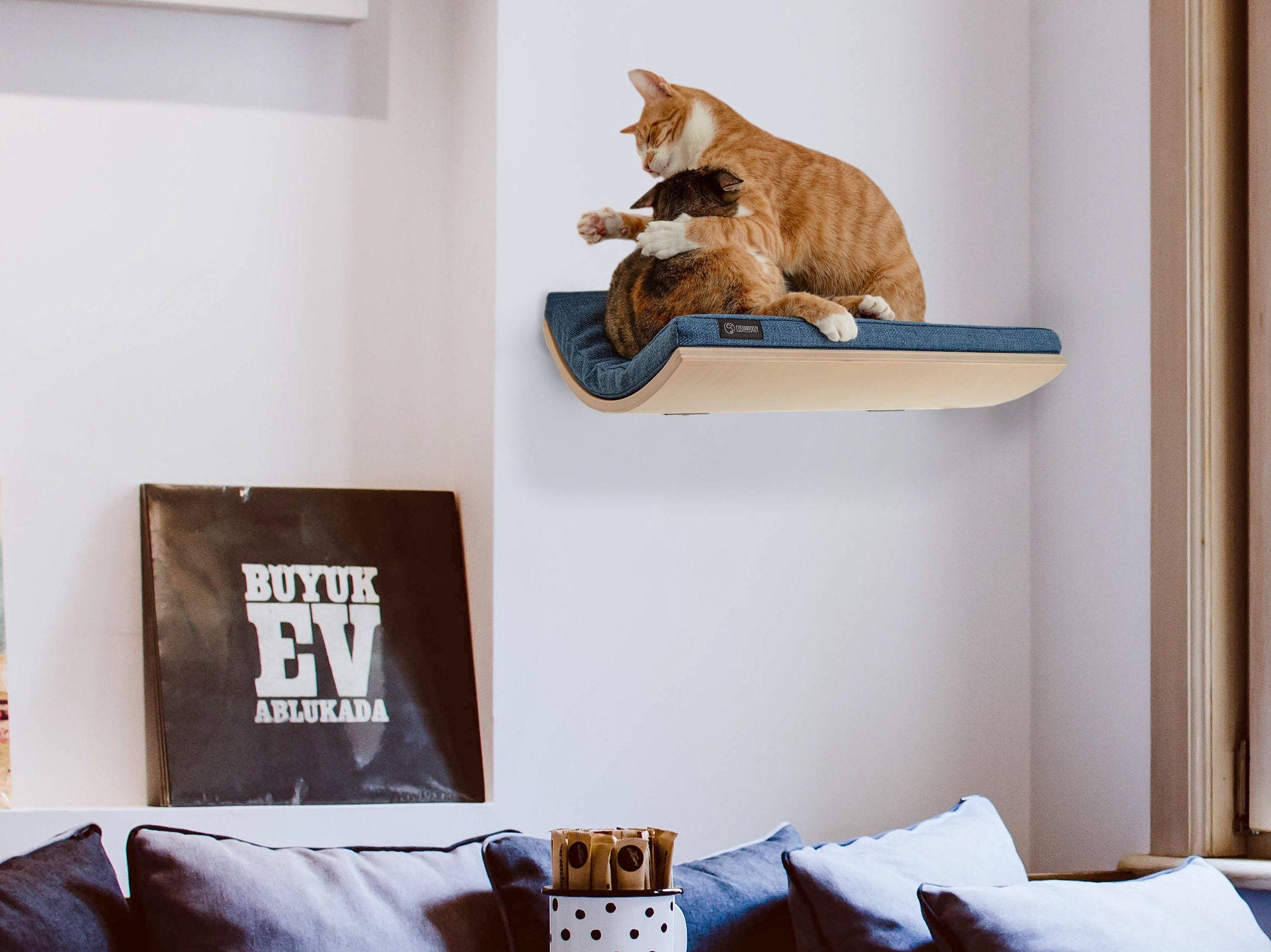 cat shelf pet supplies wall mounted perch cat bed wave shelf
