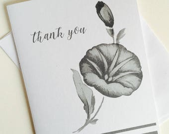 Vintage image thank you cards,Personalized stationery set,note cards,greeting cards,Calligraphy