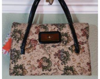Vintage 1950's or 60's Tapestry Handbag, #27630