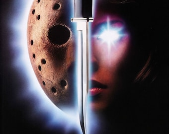 Friday the 13th Part VII 1988 Cult Vintage Horror Film Movie Poster Print A3 A4