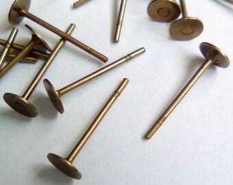 bronze 10 12mm stainless steel stud earrings