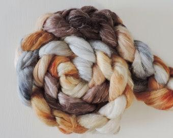 Merino sw Nylon Leinen sock,An der alten Mühle, handgefärbte Fasern zum Spinnen,120g Kammzug