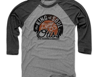 Otis Redding Men's Shirt | Soul Music | Baseball T Shirt | Otis Redding Live O