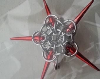 Spike star brooch