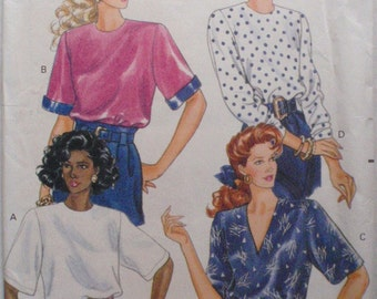Butterick 3712 - Fast and Easy Sewing Pattern - Misses/Misses Petite Pullover Top - Sizes 6-8-10, Bust 30 1/2 - 32 1/2, Uncut