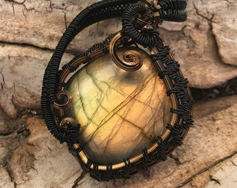 Labradorite Wire Wrappes Focal