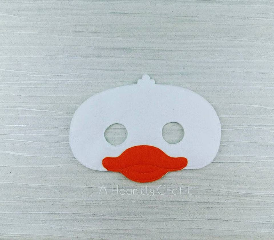 Gans-Maske Filz Maske Tiermaske Ente Maske Mutter Gans