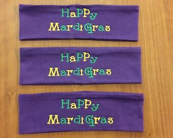 3 Mardi Gras Headbands, Mardi Gras Accessories, Mardi Gras Party, Mardi Gras Gifts, Girls Night Out, Party Favors, Mardi Gras Favors